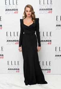 Cara Delevingne aux Elle Style Awards.