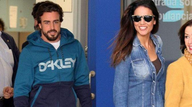 Fernando Alonso y Lara Álvarez