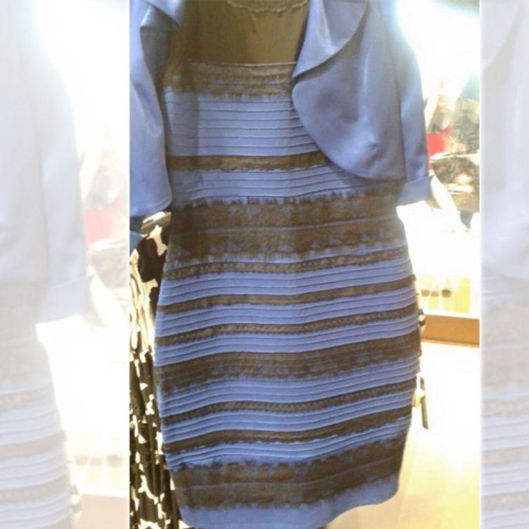 Kleid Blau Oder Weiß