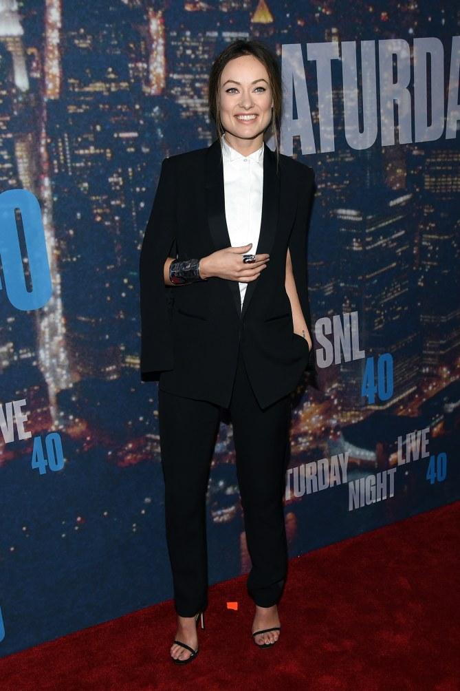 Olivia Wilde à l'anniversaire du SNL.