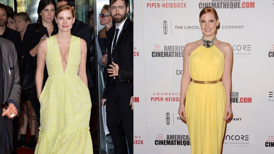 "Les trois ""fashion obsessions"" de Jessica Chastain"
