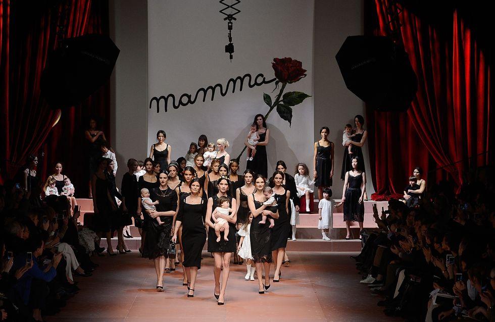 Dolce & Gabbana, un défilé célébrant la maternité