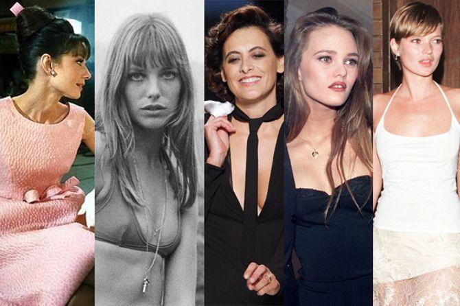 Icônes glamour à petite poitrine