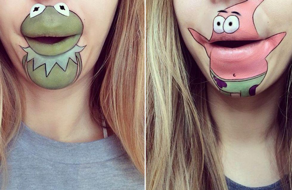 Unglaublich: Diese Künstlerin erweckt Comic-Figuren zum Leben - mit ihrem Mund!