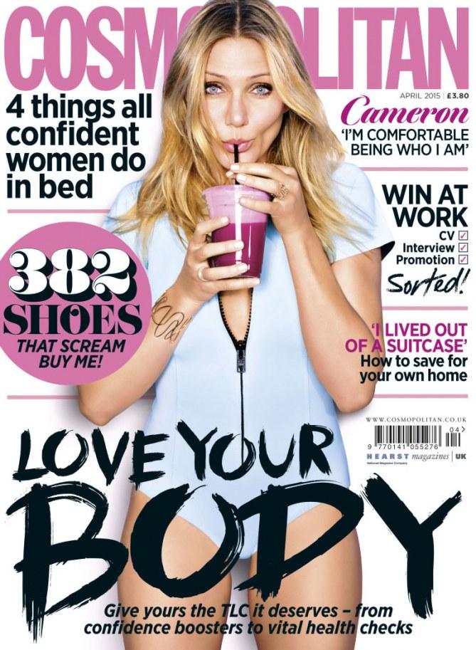 Cameron Diaz en couverture de Cosmopolitan