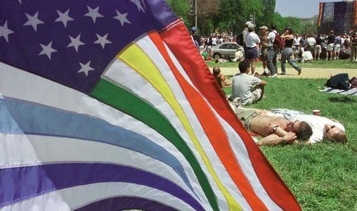 Un drapeau américain customisé.