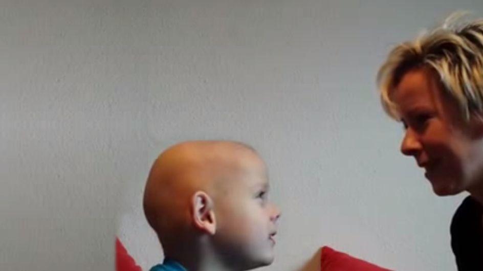 Ich nehm' den Fuß als Arm: So tapfer reagiert der kleine Louis auf wirklich schlimme Neuigkeiten