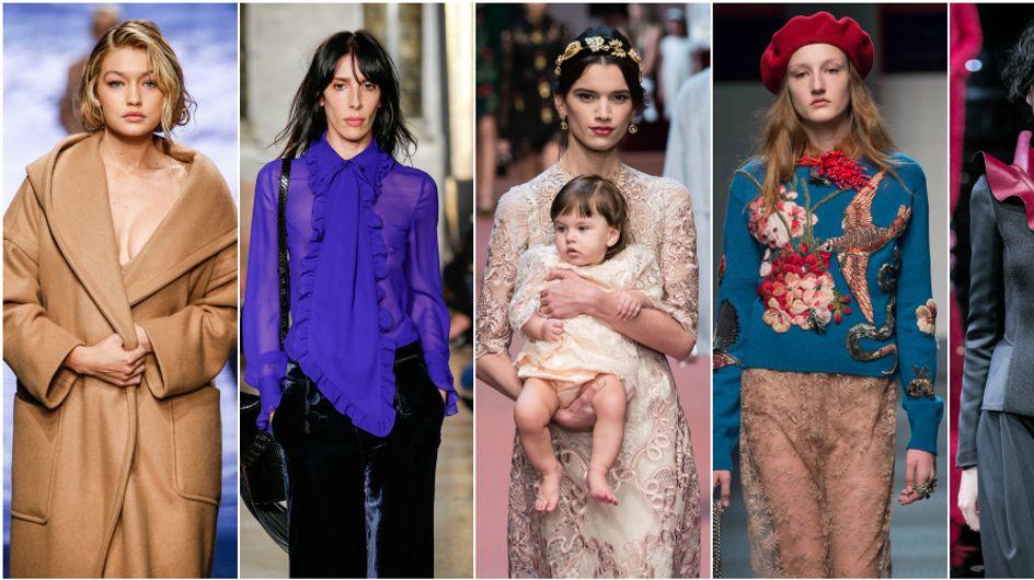 Donne guerriere, donne bambine, e il trionfo delle mamme. 10 cose notevoli dalla Milano Fashion Week