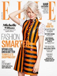 Michelle Williams en couverture du Elle UK