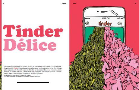 Le reportage sur Tinder.