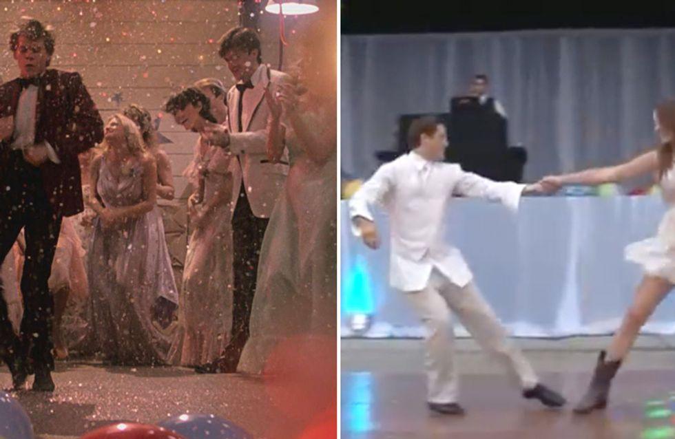 Video/ Danza a sorpresa al matrimonio: gli sposi inziano a ballare Footloose