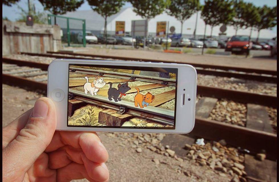 Avec son téléphone, ce papa introduit les personnages de Disney dans la vraie vie !