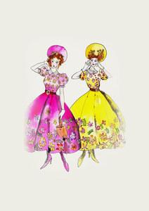Cinderella: i bozzetti originali dei costumi