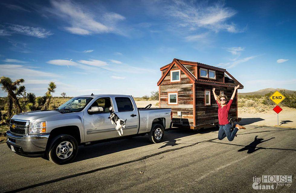 Winziges Haus auf Rädern: Dieses Paar ist auf 11 Quadratmetern unterwegs
