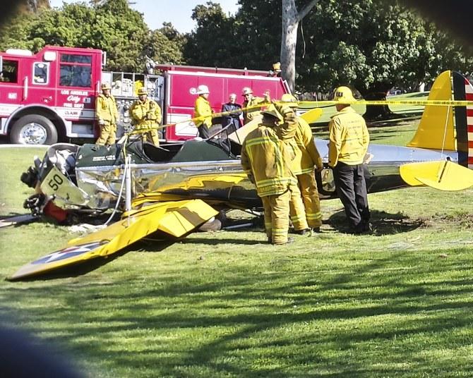 Les secours à l'oeuvre après l'accident d'Harrison Ford