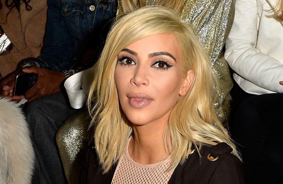 La tenue en résille très osée de Kim Kardashian (Photos)