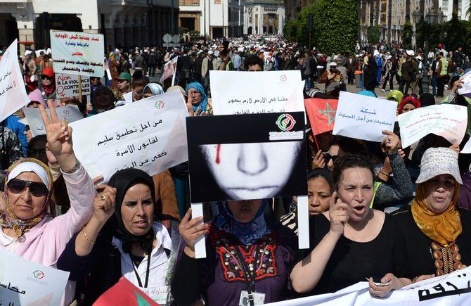 Manifestation au Maroc, à Rabat