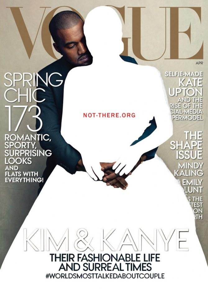 Une couverture de Vogue pour Not There Yet.