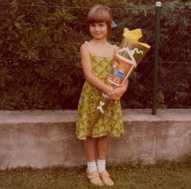 Heidi Klum petite fille pour soutenir la pétition #UpForSchool