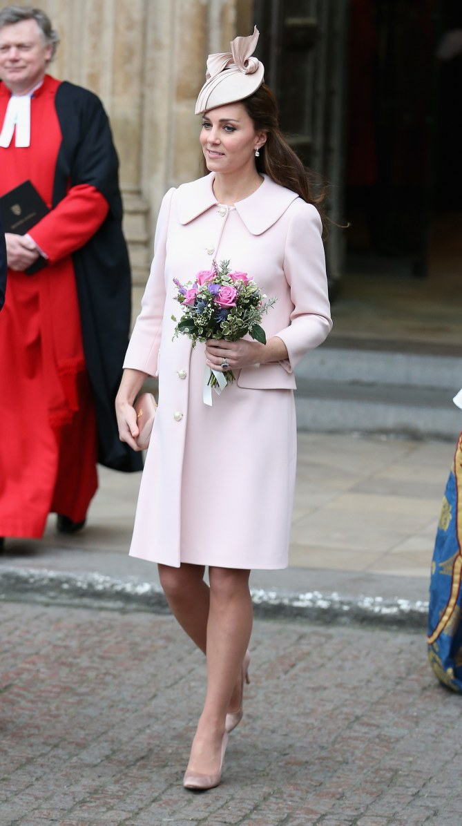 Kate Middleton souriante.