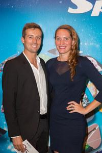 Camille Muffat et son compagnon William Forgues