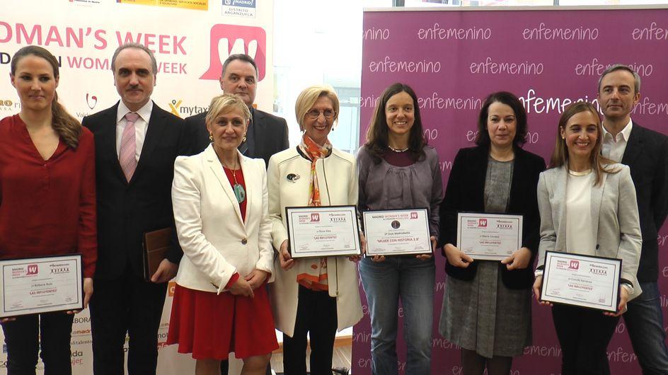 """enfemenino y Madrid Woman's Week entregan los premios """"Mujeres Influyentes 2.0"""" 2015"""