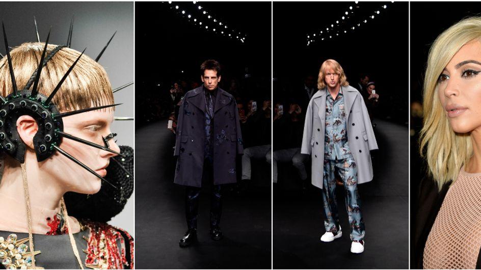 Accessori da guerra, trucco bizzarro e Zoolander in passerella! 10 cose pazze e interessanti dalla Parigi Fashion Week