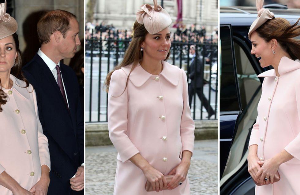 Kate: cappottino rosa e pancione ingombrante! Le foto della Middleton all'8° mese!