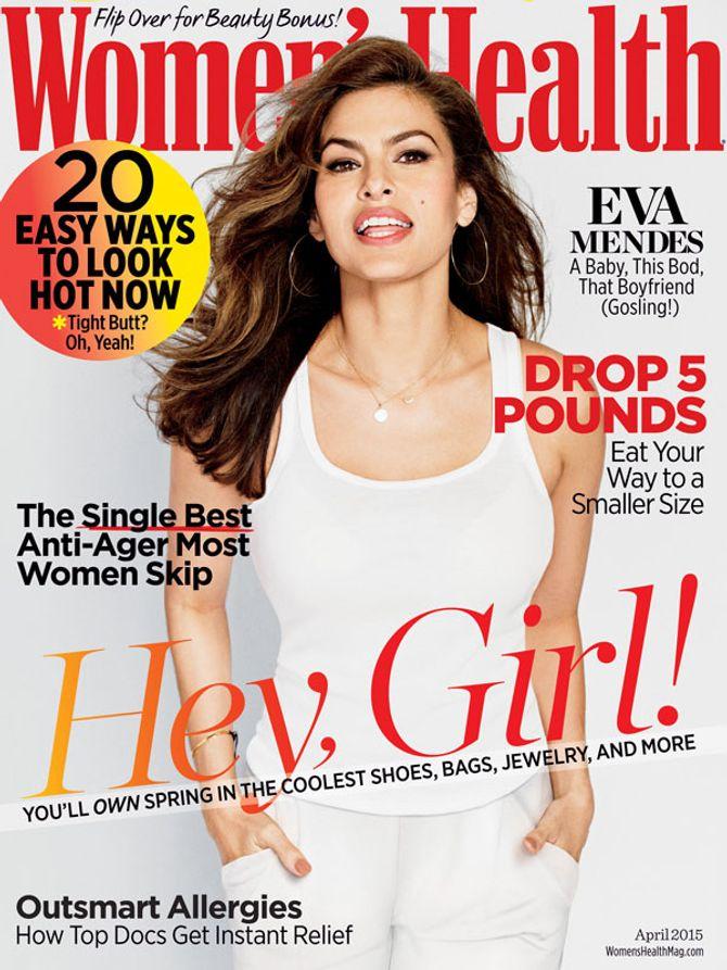 Eva Mendes en couverture du numéro d'avril de Women's Health