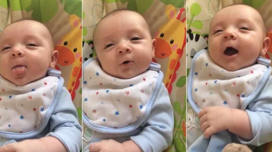 Ist dieses Baby ein Wunderkind? Mit 7 Wochen spricht es schon sein erstes Wort