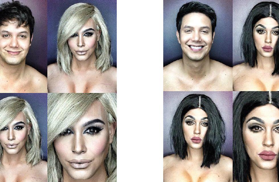 Ctrl C + ctrl v: esse cara se transforma em Dakota Johnson, Kim Kardashian e o resultado é impressionante