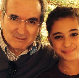 Lamberto insieme alla figlia Matilde