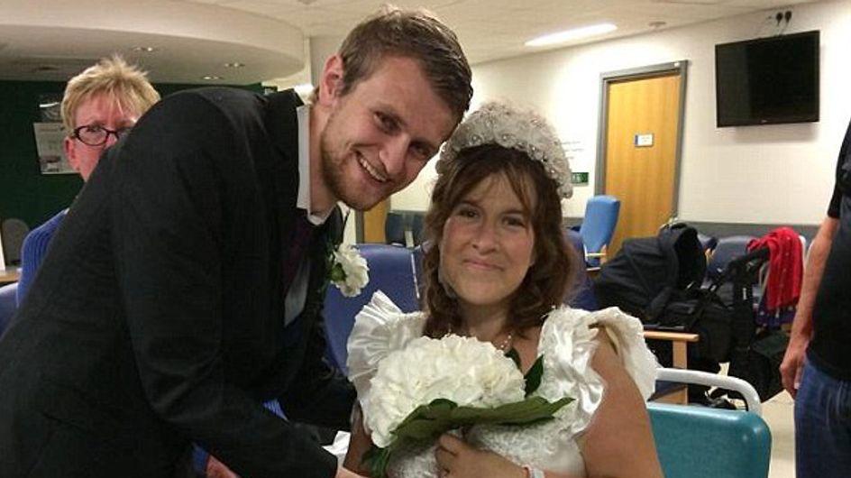 Una pareja contrae matrimonio en el hospital cuando a ella le quedan 48 horas de vida
