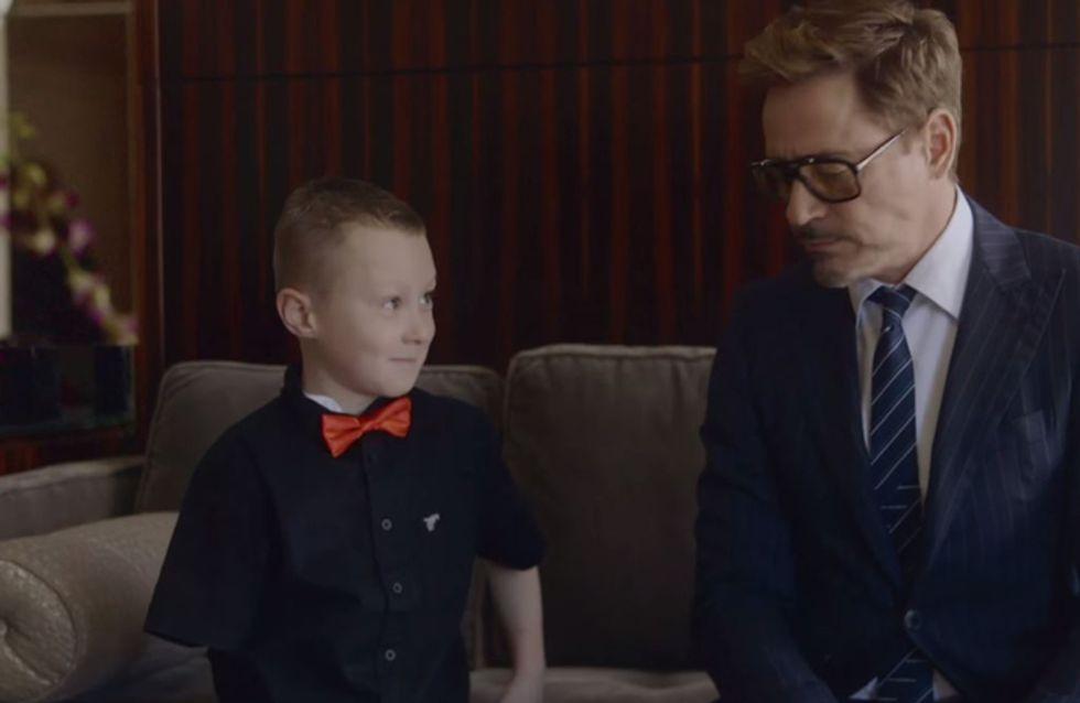 Das geht ans Herz: Dieser kleine Junge kriegt seinen neuen Arm von einem echten Superhelden überreicht