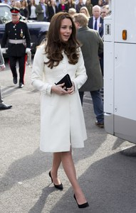 Kate Middleton en visite sur le tournage de Downton Abbey