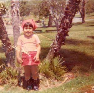 Eva Mendes à 3 ans.
