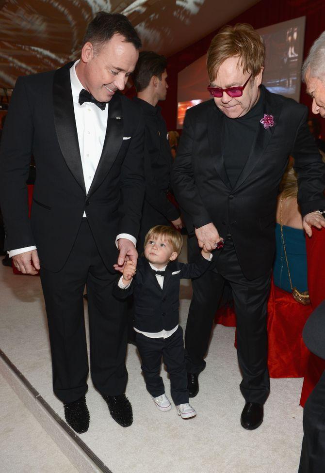 Elton John, David Furnish et Zachary
