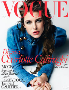 Charlotte Casiraghi en Une de Vogue
