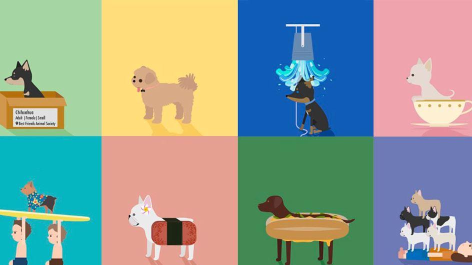 Designer incentiva adoção de cachorros criando ilustrações no Instagram