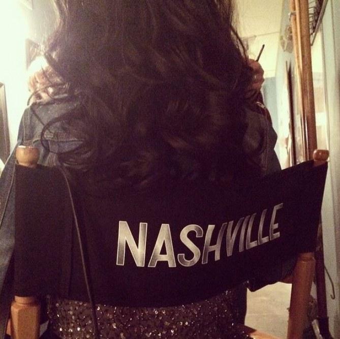 Christina Aguilera sur le tournage de Nashville