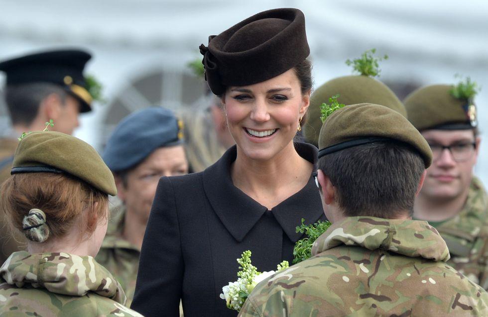 Kate Middleton, future maman radieuse pour la St Patrick (Photos)