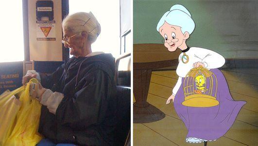 Questa signora sembra la nonnina dei Looney Tunes