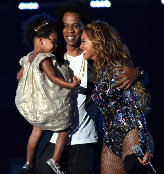 Blue Ivy et ses parents