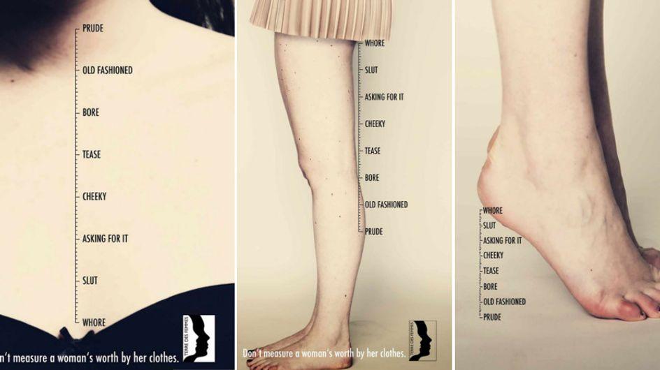 Puritana o prostituta? La campagna stampa che invita a non giudicare il valore di una donna dai suoi vestiti