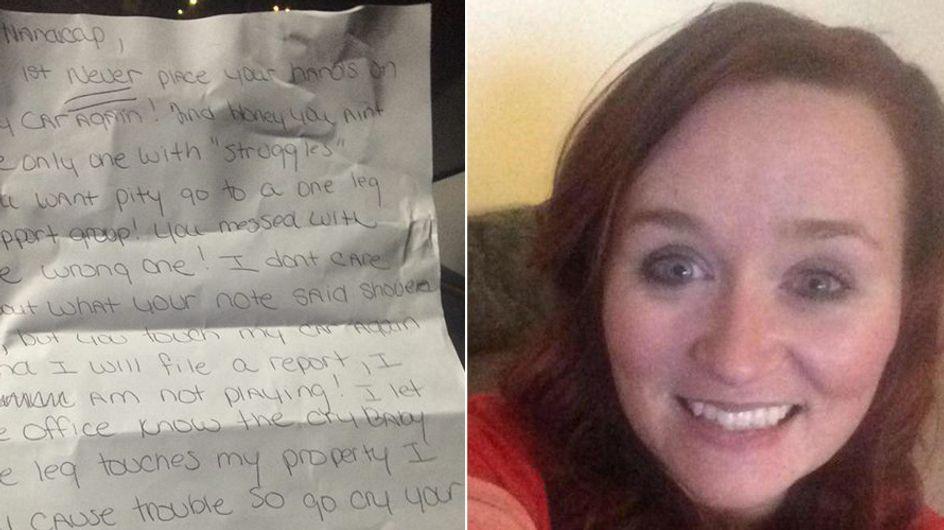 Nach einem Unfall lebt Ashley mit einer Beinprothese und bittet ihre Nachbarn um Hilfe - dafür muss sie sich beschimpfen lassen