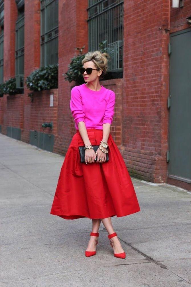 Rot und Pink kombinieren: Streetstyle