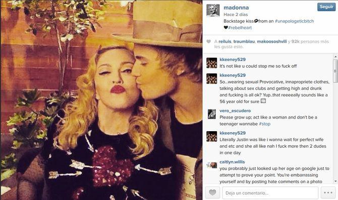 Madonna y Justin Bieber