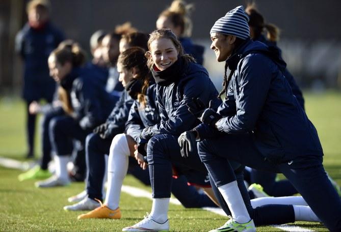 L'équipe de France de foot féminin