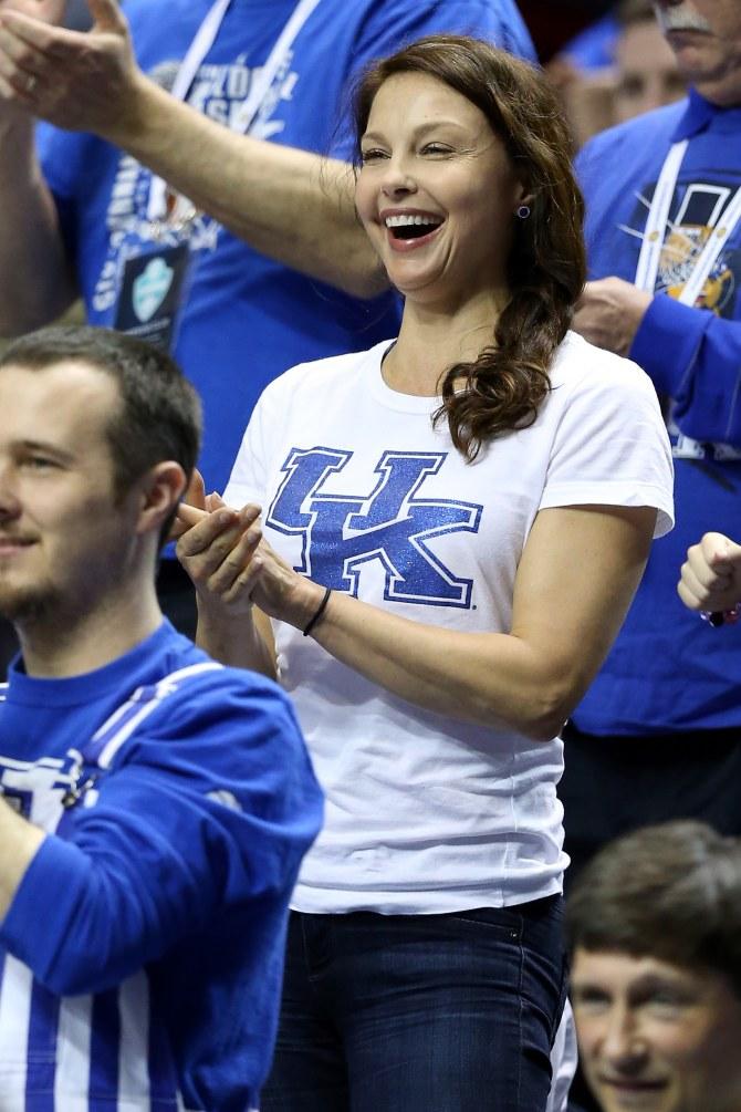 Ashley Judd au match des Kentucky Wildcats