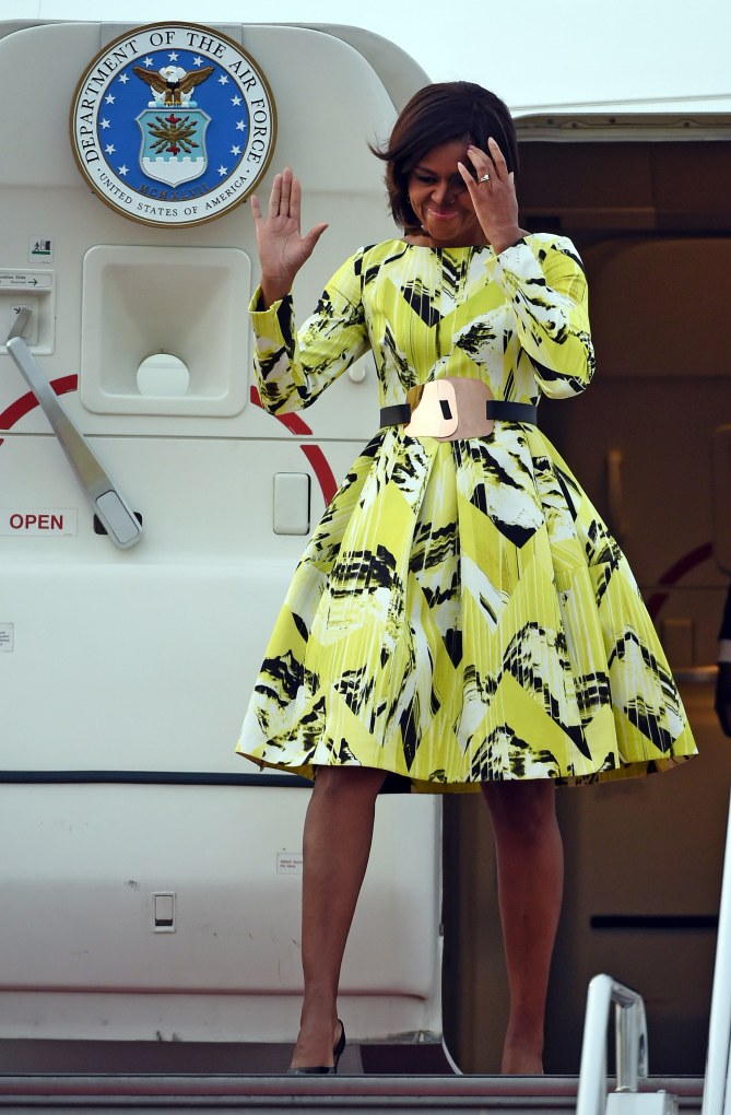 Michelle Obama à son arrivée au Japon